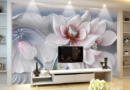 Hình ảnh mẫu giấy dán tường 3D, 5D phong Cảnh, Hoa, Giả gạch đẹp nhất 2020