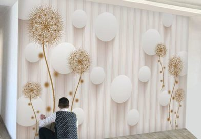 Giấy dán tường giá bao nhiêu tiền một mét vuông 1m2 Trọn gói hoàn thiện gồm tiền nhân công và vật tư 2021