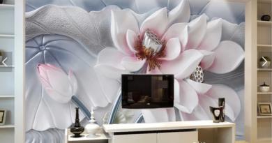 Hình ảnh mẫu giấy dán tường 3D, 5D phong Cảnh, Hoa, Giả gạch đẹp nhất 2021