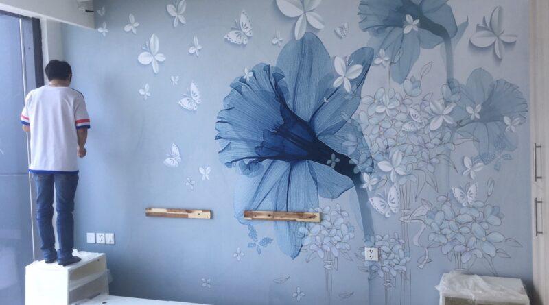 Giá thi công giấy dán tường tại Hải Phòng Theo m2 cho phòng ngủ phòng khách trọn gói giá rẻ nhất 2021